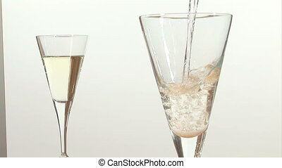 Stock Footage  - Pouring Champagne
