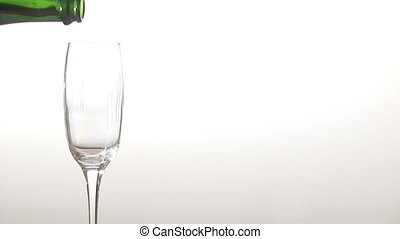 Stock Footage  - Pouring Champagne into a Glass