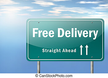 Highway Signpost Free Delivery