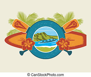 Surf and Canoe Emblem