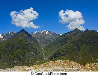mountain peaks; - Mountains peaks; mountainsides; Himalayas;...