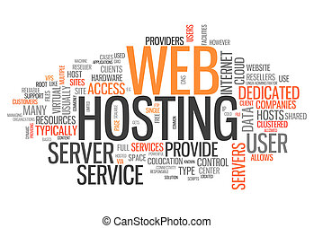 Word Cloud Web Hosting - Word Cloud with Web Hosting related...