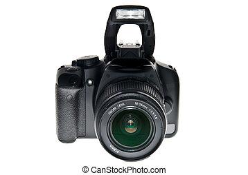 dslr - Dslr camera isolated on white
