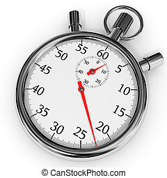 Stopwatch. - Stopwatch on white background. 3D illustration.