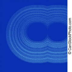 concentric rings on blue background - concentric rings...