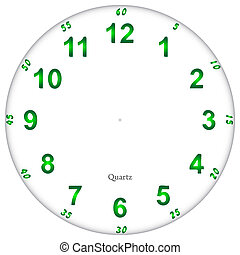 Fluorescent clock face pattern, easy to resize