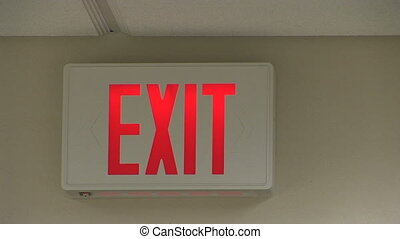 Exit Sign in an Office