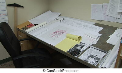 Plans on an Architects Desk