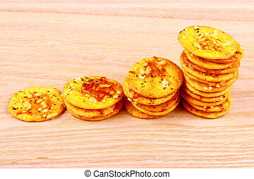 Pizza crackers as business concept - Pizza crackers with as...