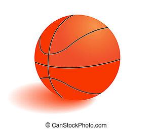 Ball for playing basketball