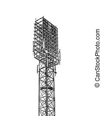 Stadium floodlight - A football stadium floodlight with...