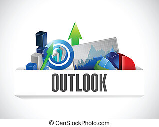 business outlook graphs on a pocket