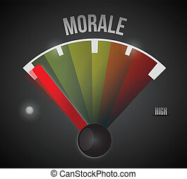 low morale illustration design over a black background