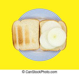 Onion sandwich on toast