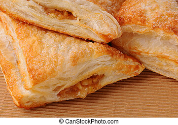Apple Turnover Closeup - Closeup of Apple Turnovers on a...
