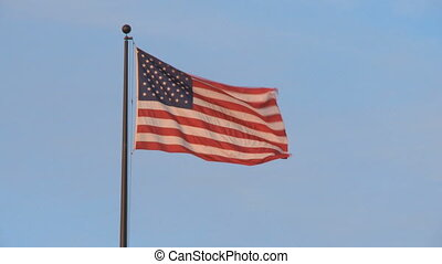 American Flag flying gently in the breeze
