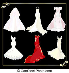 collection of wedding dresses.eps