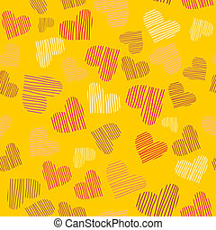 Seamless pattern with heart.