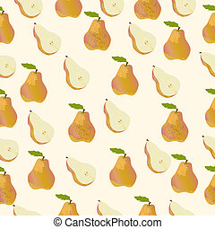 seamless orange pear