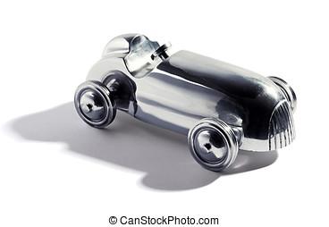 chromed, juguete, vendimia, coche