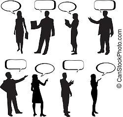Dialog People -vectors work