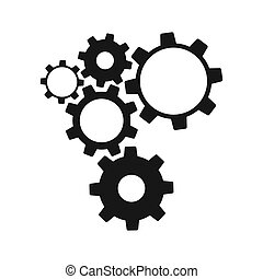 Gears isolated on white background