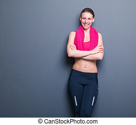 Young athletic woman relaxing
