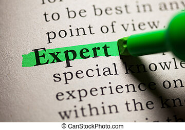 expert - Fake Dictionary, definition of the word expert
