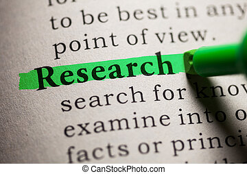 research - Fake Dictionary, definition of the word research