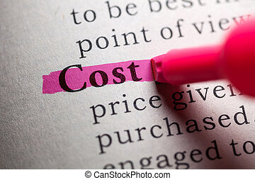 cost - Fake Dictionary, definition of the word cost.