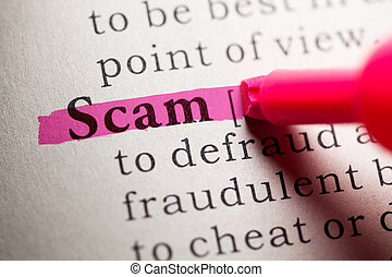 scam - Fake Dictionary, definition of the word scam