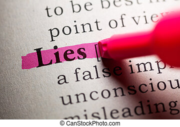 lies - Fake Dictionary, definition of the word lies.