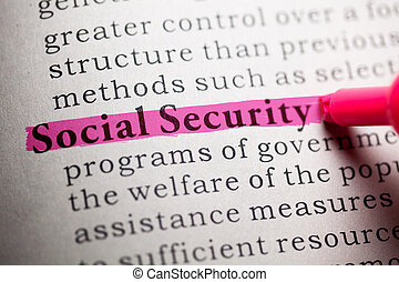 social security - Fake Dictionary, definition of the word...