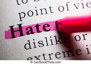 hate - Fake Dictionary, definition of the word hate