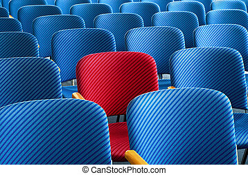 Red seat standing out - Red seat as an eyecatcher in the...