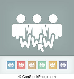 Illustration of social network icon
