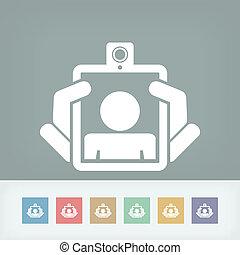 Webcam tablet icon concept