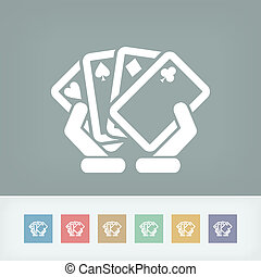 Poker game icon concept