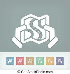 Road map icon concept