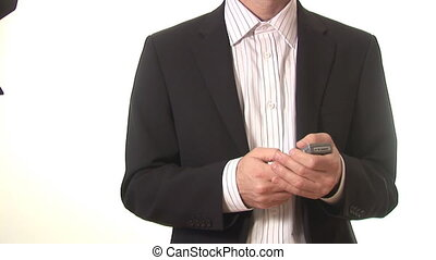 Stock Footage of a Man on a Mobile Phone