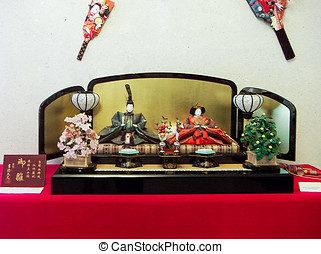 Japanese Doll Festival for girls - The Emperor and Empress
