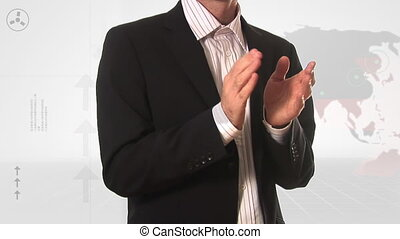Stock Footage of a Business Man Applauding - Stock Footage...