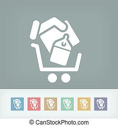 compras, carrito, icono