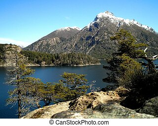 Patagonia Landscape - Beautiful view of mountains and lake...