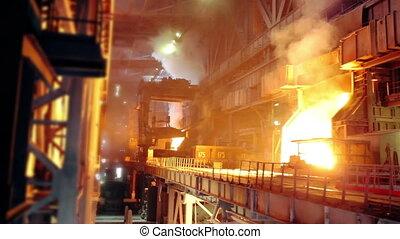 Blast furnace at an industrial plan