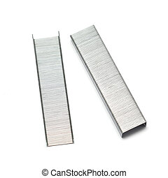 Staples isolated on white background
