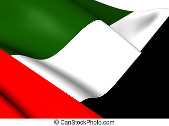 Flag of United Arab Emirates Close Up