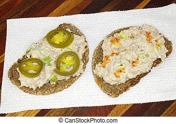 Open Face Tuna Salad Sandwich
