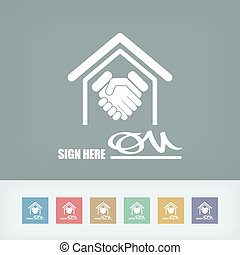 Signed document icon