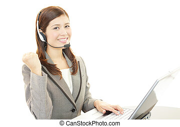 Customer services operator - Young attractive customer...